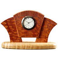 Art deco desk clock ~ free plan Used Woodworking Machinery, Used Woodworking Tools, Custom Woodworking, Woodworking Projects, Woodworking Classes, Clock Art, Diy Clock, Clock Ideas, Woodworking Blueprints