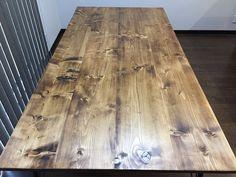 SPF材をダボ接合で組み付けた、1800mmの大きなカフェ風ダイニングテーブルを製作しました。 #DIY #日曜大工 #家具