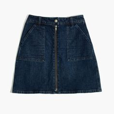 98c5a370f Madewell Womens Denim Utility Zip Skirt Capsule Wardrobe, Black Denim  Shorts, Denim Skirt,
