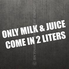 Milk & Juice Funny Bumper Sticker Vinyl Decal Big Block Hemi Engine Muscle Car