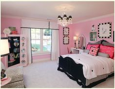 Teen Girls Bedroom Ideas Magnificent On Image Cool Teenage Girl Bedrooms Bedroom Pink Bedroom For Girls, Pink Bedrooms, Teenage Girl Bedrooms, Pink Room, Little Girl Rooms, Teenage Room, Small Bedrooms, Attic Bedrooms, Modern Bedrooms