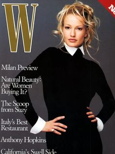 The 25 Best W Magazine Supermodel Covers - Karen Mulder on the cover of W Magazine October 1993 W Magazine, Fashion Magazine Cover, Hair Magazine, Glamour Magazine, Fashion Cover, Magazine Covers, 90s Fashion, Top Models, Female Models