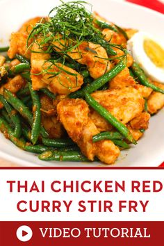 """This delicious Thai recipes is a great addition to your list of asian food recipes must try! Prik King"" is a quick and easy way to enjoy the bold flavours of Thai cuisine. Use red curry paste and long beans for authentic flavours, but feel free to change things up! 