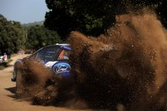 Second ITALY, Olbia, October 20, 2012: The crew of Petter Solberg and Chris Patterson in a Ford Fiesta RS WRC. (Photo: Massimo Bettiol / Getty Images)