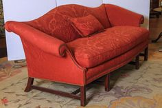 English Chippendale Style Camel Back Sofa 10
