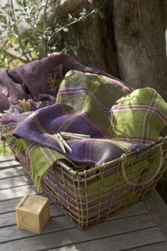 Green and purple plaid Ideal picnic date Lavender Cottage, Rose Cottage, Shades Of Purple, Green And Purple, Olive Green, Plum Purple, La Provence France, What A Nice Day, Quiet Storm