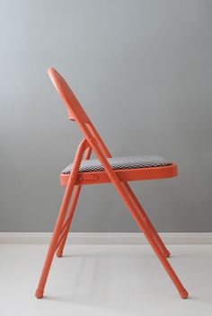 A fabulous folding chair DIY via Design For Mankind.  They transformed a dreary chair and made it bright and stylish.