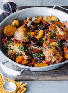 This was a big hit with the Dish team. They loved the combination of meltingly tender duck, juicy figs, zesty orange and a rich marsala sauce. Fig Recipes, Kitchen Recipes, Cooking Recipes, Healthy Recipes, Meat Recipes, Holiday Recipes, Duck Leg Recipes, Roasted Duck Recipes, Wild Duck Recipes