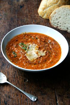 Italian Soup Recipes | POPSUGAR  | Roasted Tomato & Bread Soup