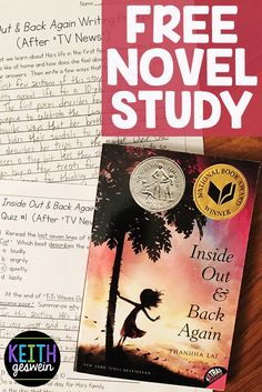 FREE quizzes and writing prompts for Inside Out & Back Again, an amazing story of a girl whose family is forced to flee Vietnam during the war, then establish a new home in Alabama.  There's SO much for your students to discuss in this book and these free resources will provide discussion starters.