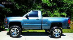 This 2014 Chevrolet Silverado 1500 is running XD Rockstar wheels Nitto Trail Grappler tires with Pro Comp Suspension Lift suspension. Chevy 4x4, Lifted Chevy Trucks, Kenworth Trucks, Pickup Trucks, Cool Trucks, Big Trucks, 2014 Chevrolet Silverado 1500, 2014 Silverado, Lifted Silverado