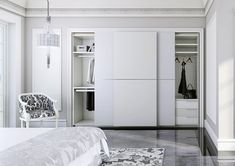 Top 13 Closet Door Ideas to Try to Make Your Bedroom Tidy and Spacious - Site Home Design Sliding Closet Doors, Wardrobe Doors, Wardrobe Closet, Built In Wardrobe, Closet Space, Condo Bedroom, Bedroom Closet Design, Wardrobe Design, Cupboard Design