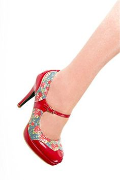 Banned Blue & Red Floral Appliqué Mary Jane Heels Vintage Style Floral Women's High Heel Shoes (UK 7) Banned http://www.amazon.co.uk/dp/B019FOT9VM/ref=cm_sw_r_pi_dp_.z5Kwb0TR4S8E