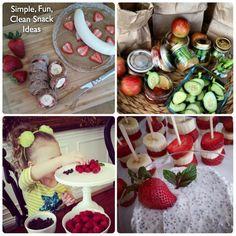 Simple, Fun, Clean Snack Ideas CleanFoodCrush - http://cleanfoodcrush.com/simple-snacks/
