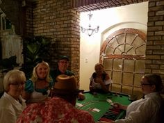 Casino tables are a great addition to halloween parties. Casino Table, Casino Party, Halloween Party Themes, Casino Night, Tables, Party Ideas, Mesas, Fete Ideas, Ideas Party