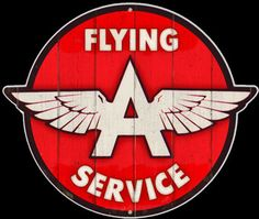 Click for more information about Flying A Diecut Vintage Sign Flying A Vintage Gas - Oil Signs