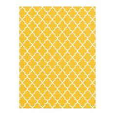 Modern Yellow and White Moroccan Quatrefoil Fleece Blanket