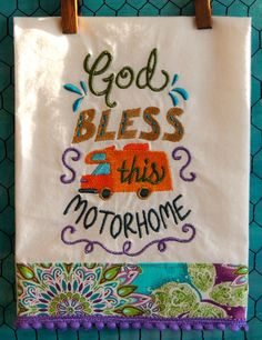 God Bless This Motorhome by seechriscreate on Etsy