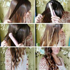 Loose curls w/  flat iron