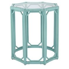 Check out this item at One Kings Lane! Regeant Octagonal End Table, Aqua