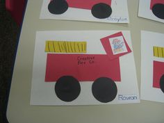 fire truck preschool craft - Google Search