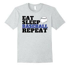 Eat Sleep Baseball Repeat T-Shirt - Funny Baseball Shirt