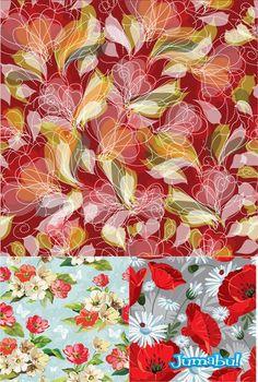 nice Fondo Coloridos con Flores en Vectores