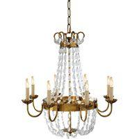 Visual Comfort E.F. Chapman Paris Flea Market 8 Light Chandelier in Antique-Burnished Brass CHC1408AB-SG | Visual Comfort | Visual Comfort Lighting | Alexa Hampton | Visual Comfort Sconces by Lighting New York