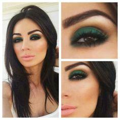 Don't be afraid to go green. #eyeshadow