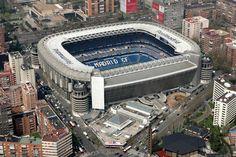 Otra Champions en esta chulada de estadio, el Santiago Bernabeu, en Madrid