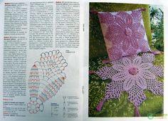 Almofada em Crochê - Gráfico ❥ / Pillow Crochet - Graphic ❥