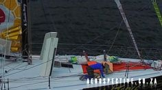 Vendee Globe, Romain Attanasio in Simon's Town, fixing his rudders, An A...