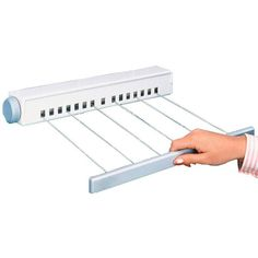 Wenko 3725010100 Multiautomatic washing line m drying length, extendable, Plastic PP, x 6 x cm, White