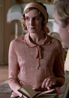 Lady Edith in pink -- Downton Abbey