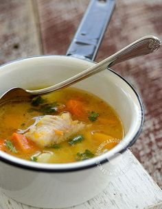 Sopa de Pescado Recipe (Fish Soup): a light cheap, healthy and delicious alternative to meat soups. A great way to get the little ones to eat their fish.