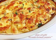 ....ANNE ELİ GİBİ.....: FIRINDA KREMALI PATATES Ramadan, Turkish Kitchen, Iftar, Homemade Beauty Products, Macaroni And Cheese, Brunch, Food And Drink, Appetizers, Pizza