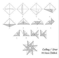 El Pozo Voluptuoso: Sana sana colita de rana... Origami Ball, Diy Origami, Origami Paper Folding, Paper Crafts Origami, Useful Origami, Origami Stars, Origami Tutorial, Diy Christmas Star, Christmas Origami