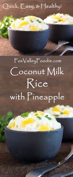 Coconut Milk Rice with Pineapple Recipe - Quick Easy & Healthy!