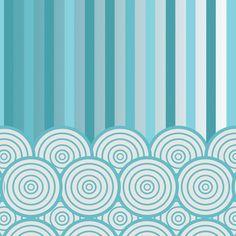 Papel de Parede Listras e Aros em Azul S