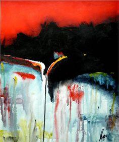 AM RANDE DER VERNUNFT, Acrylmischtechnikm auf Leinwand, Aug. 2013 Painting, Art, Canvas, Creative, Art Background, Painting Art, Kunst, Paintings, Performing Arts