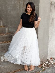 Star Lace and Tulle Skirt