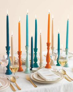 REVEL: Colored Candlesticks. Add gold animal place holders