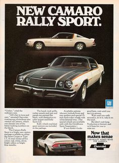 1976 Chevrolet Camaro Rally Sport Ad (by dave_7)Original: TumblrPages Max Pic