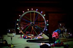 These wedding centerpieces made from bicycle parts are pure art | Offbeat Bride