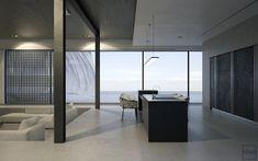 minimal-black-benches-white-leather-georgian-couches-seaview-apartment