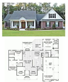 Ranch style, house plans