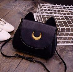 bag, black, and sailor moon image