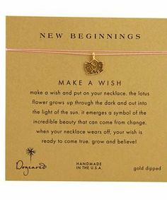Dogeared Make A Wish New Beginning Necklace #accessories  #jewelry  #necklaces  https://www.heeyy.com/suggests/dogeared-make-a-wish-new-beginning-necklace-pink-gold/