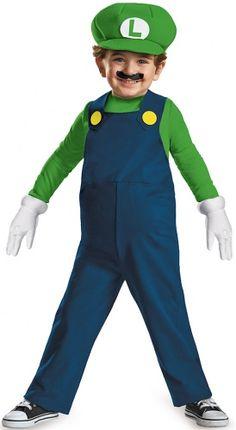 Che simpatica idea per il Natale del tuo piccolino: un travestimento da Luigi™ in licenza ufficiale! Questo costume da Luigi™ per bambino comprende una tuta integrale imbottita sul ventre, un paio di guanti e l'immancabile berretto verde!