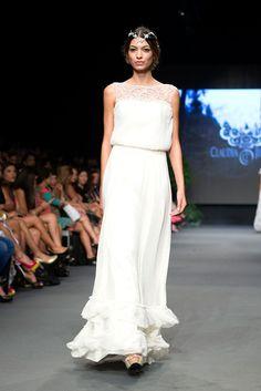 Claudia Jiménez - MBFWMX 2015 IO. Novias: buena opción para la playa.